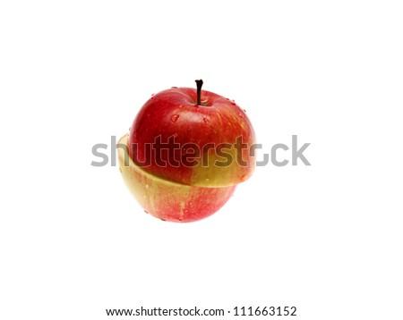 Apple cut - stock photo