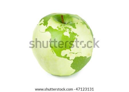 Apple Earth - stock photo