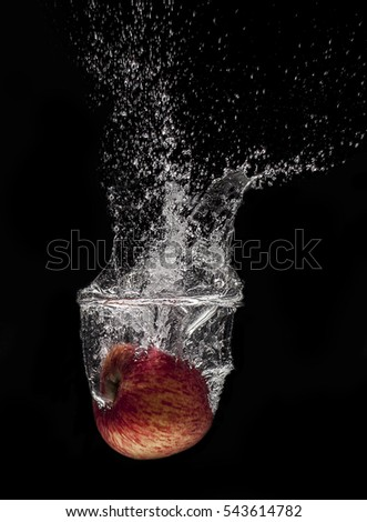 Apple fall into the water(splash)