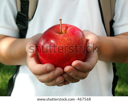 apple for the teacher - stock photo