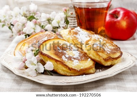 Apple fritters - stock photo