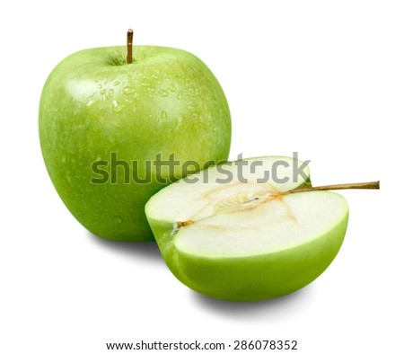 Apple, Fruit, Green.
