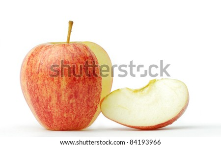 Apple fruit is spherical. Sweet frame. - stock photo