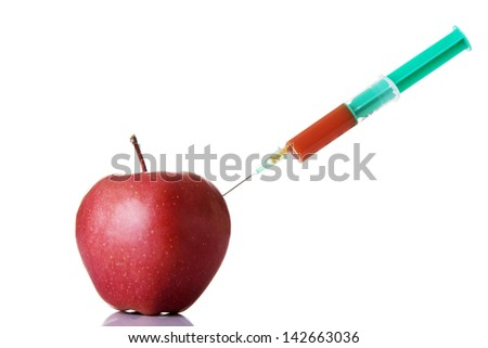 Apple GMO and biotechnology concept