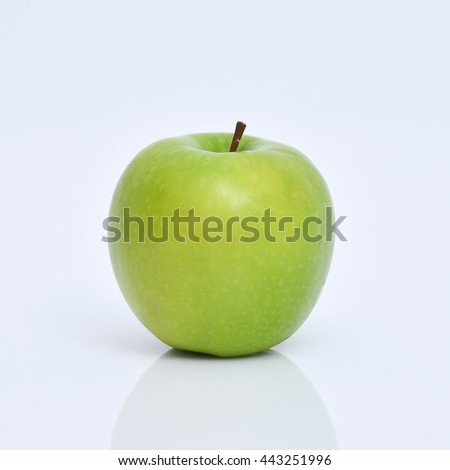 Apple green, Green apple isolated on white background, - stock photo