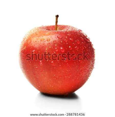 Apple isolated on white - stock photo