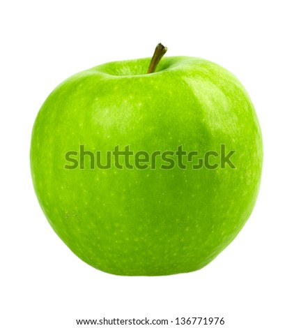 apple isolated on white background - stock photo
