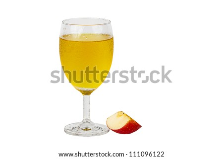 Apple juice. - stock photo