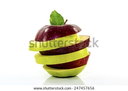 Apple, Mixed Fruit - stock photo