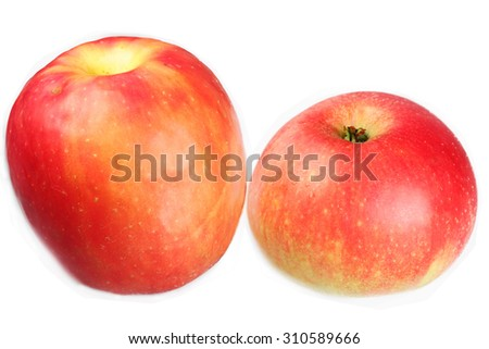 Apple on a white background - stock photo