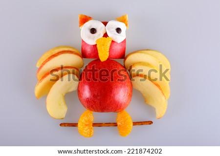 apple owl - stock photo
