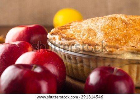 Apple Pie, Apple, Pastry Crust. - stock photo