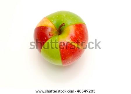 apple pie chart - stock photo