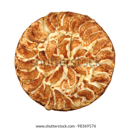 apple pie isolated on a white background - stock photo
