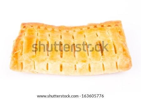 Apple pie on white background - stock photo