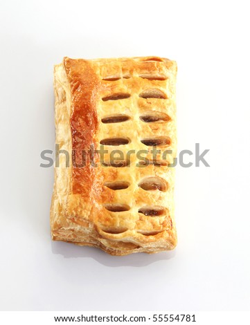 Apple puff on the background. - stock photo