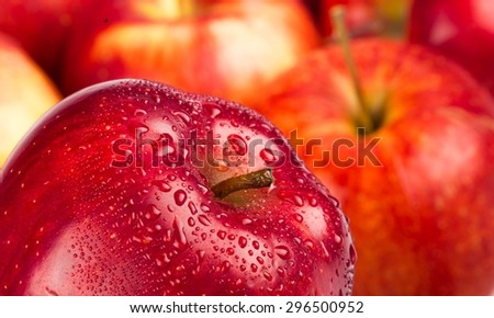 Apple, Red, Water. - stock photo