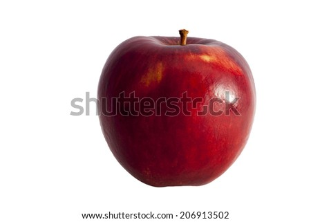 Apple side view - A ripe red apple