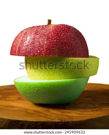 apple sliced - stock photo