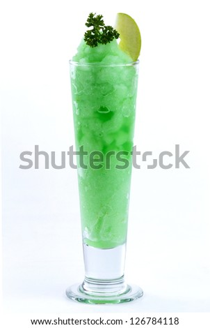 apple smoothies on white background