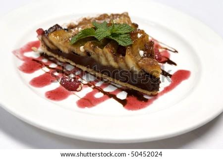 Apple Tart Dessert Dish - stock photo