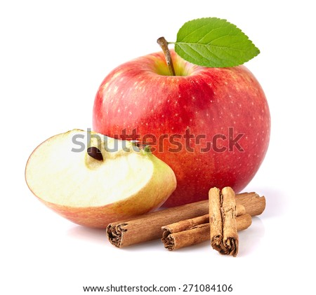 Apple with cinnamon - stock photo
