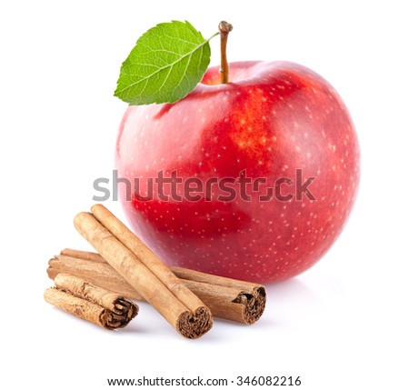 Apple with cinnamon - stock photo