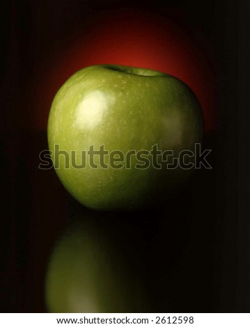 Apple with red glow - stock photo