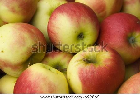 apples background - stock photo