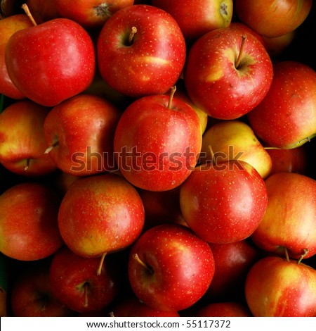 Apples Eliza for sale on the market - stock photo