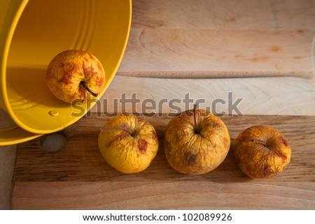 Apples from a can - stock photo