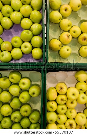 Apples in the supermarket.