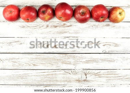 apples  of red color  - stock photo