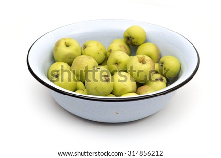apples on the white background - stock photo