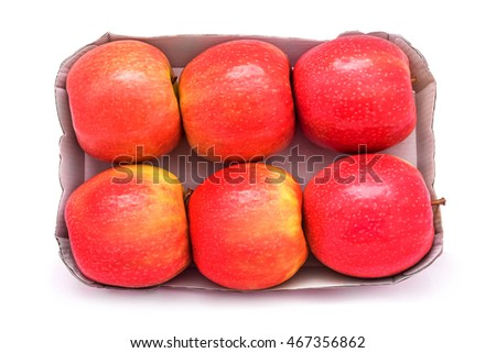 apples pack isolated on white