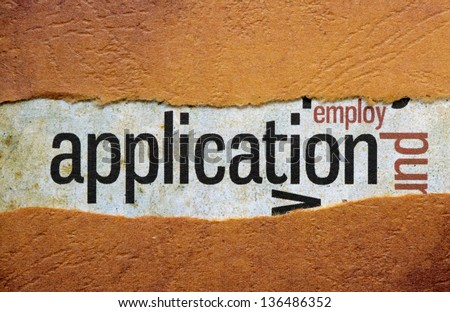 Application - stock photo