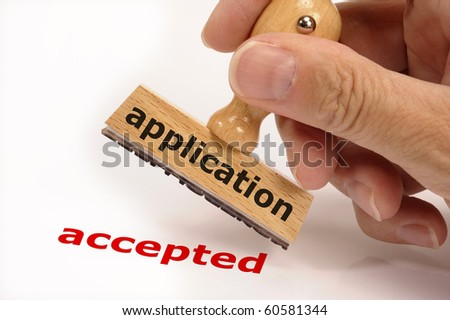 application accepted - stock photo
