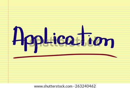 Application Concept - stock photo