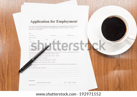 application for employment - stock photo