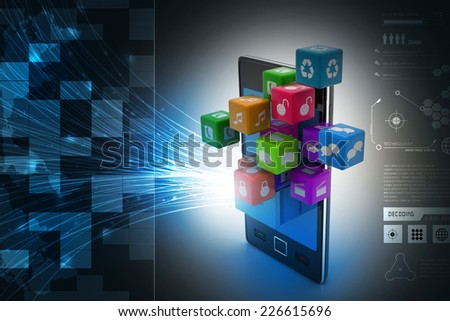 application icon concept - stock photo