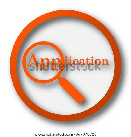 Application icon. Internet button on white background. - stock photo