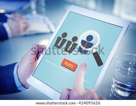 Application Occupation Profession Job Seeker Concept - stock photo