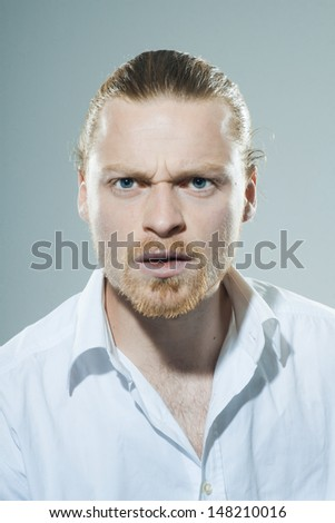Applied young man  - stock photo