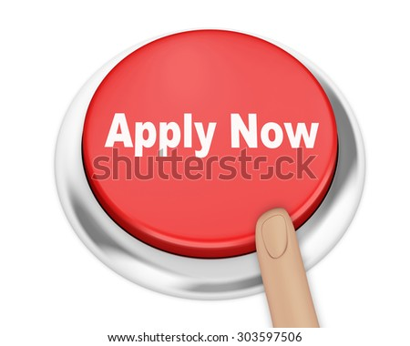 Apply now button on isolate white background - stock photo
