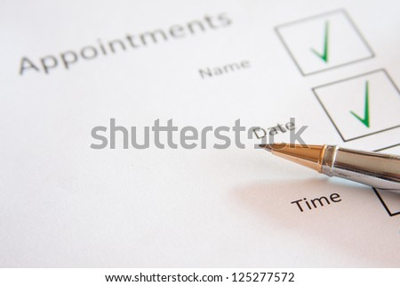 Appointment set up - stock photo