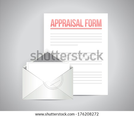appraisal form document illustration design over a grey background - stock photo