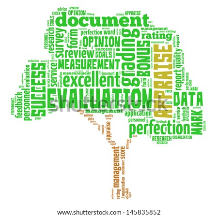 Appraisal info-text graphics and arrangement concept (word cloud) in white background - stock photo