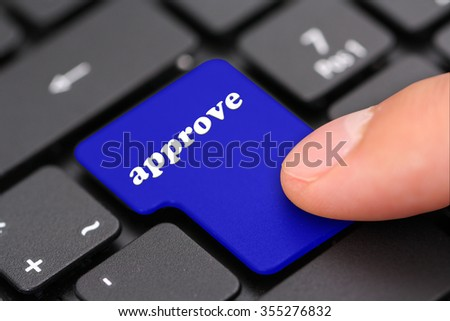 approve - stock photo