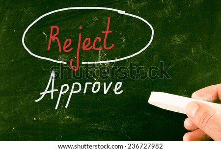 approve concept - stock photo