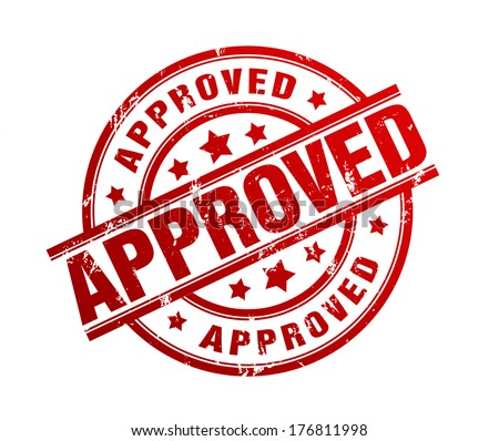Approved Stamp Stock Illustration 176811998 Shutterstock